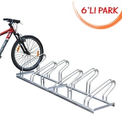 Bisiklet Parkı Park Yeri Demiri Taşıyıcı Ayağı Standı Sehpa 6 lı