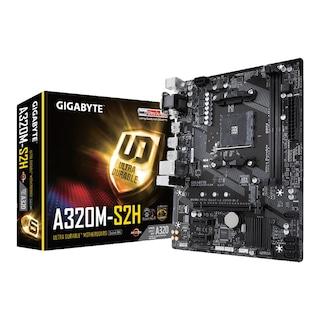 Gigabyte GA-A320M-S2H AMD A320 3200 MHz (OC) DDR4 Soket AM4 mATX Anakart