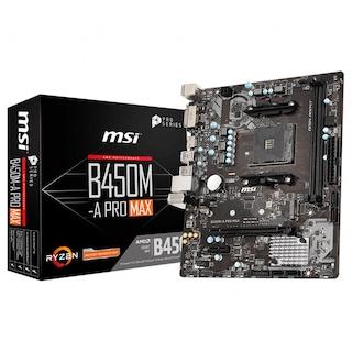 MSI B450M-A PRO MAX AMD B450 4133 MHz (OC) DDR4 Soket AM4 mATX Anakart