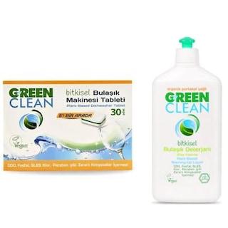 U Green Clean Bitkisel Bulaşık Makinesi Deterjanı 30 Tablet + Bitkisel Bulaşık Deterjanı 500 ML