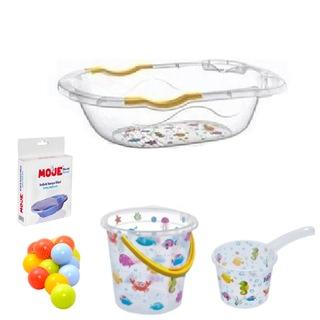 Lüx Bebek Yıkama Banyo Küvet Seti 5 Parça Giderli Küvet Seti