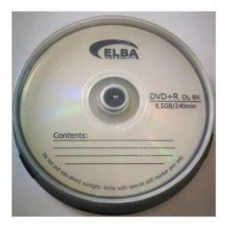 Elba DVD+R 8.5GB DL 240MIN 8X 10 lu Cakebox
