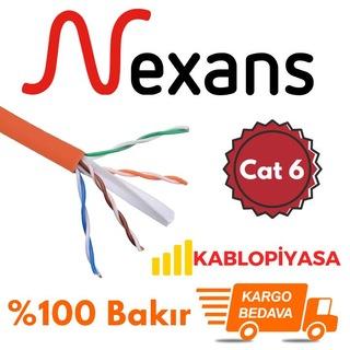 Nexans Halogen Free Cat6 Ethernet Kablosu 23 AWG Metre Seçenekli