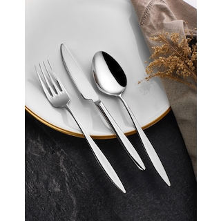 Almond Sarmaşık Sade 72 Parça Çatal Kaşık Bıçak Seti