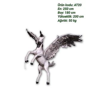 Pegasus Kanatlı At Heykeli
