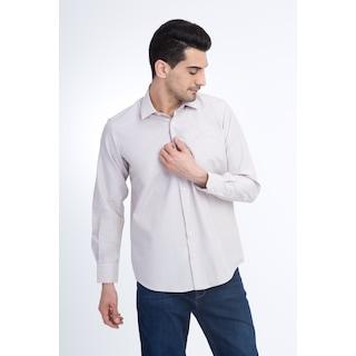 KİĞILI  Uzun Kol Desenli Klasik Gömlek