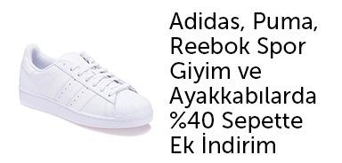Adidas, Reebok, Puma %40 Sepette Ek İndirim - n11.com