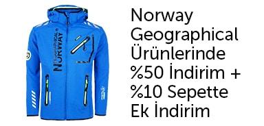 Norway geographical'da %50 indirime ek %10 sepet indirimi - n11.com