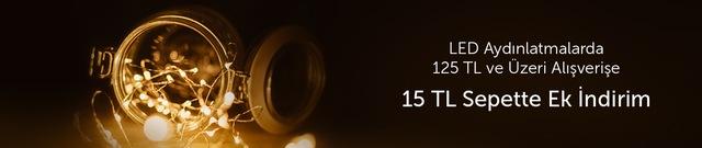 Led Aydınlatmalarda 125 Tl ve Üzeri Alışverişlerde Geçerli 15 TL Sepette Ek indirim - n11.com