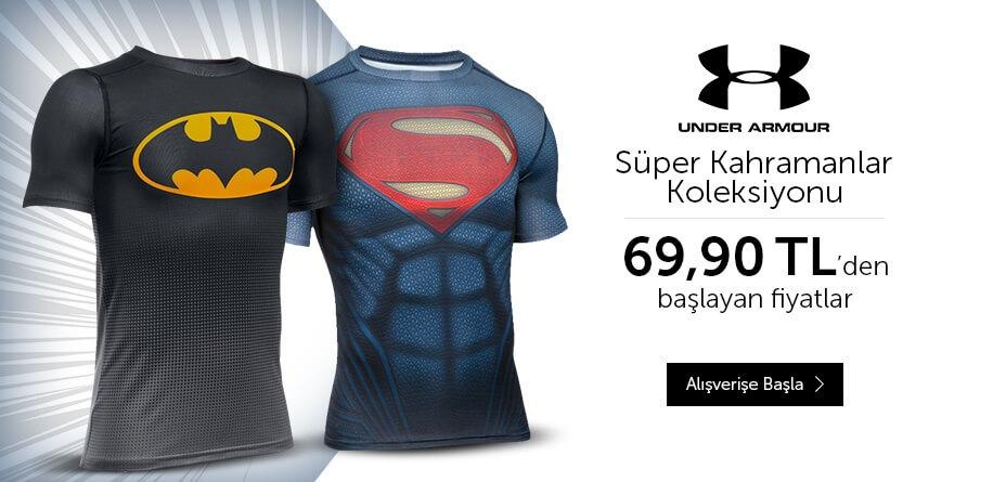 Under Armour, Superman, Batman,