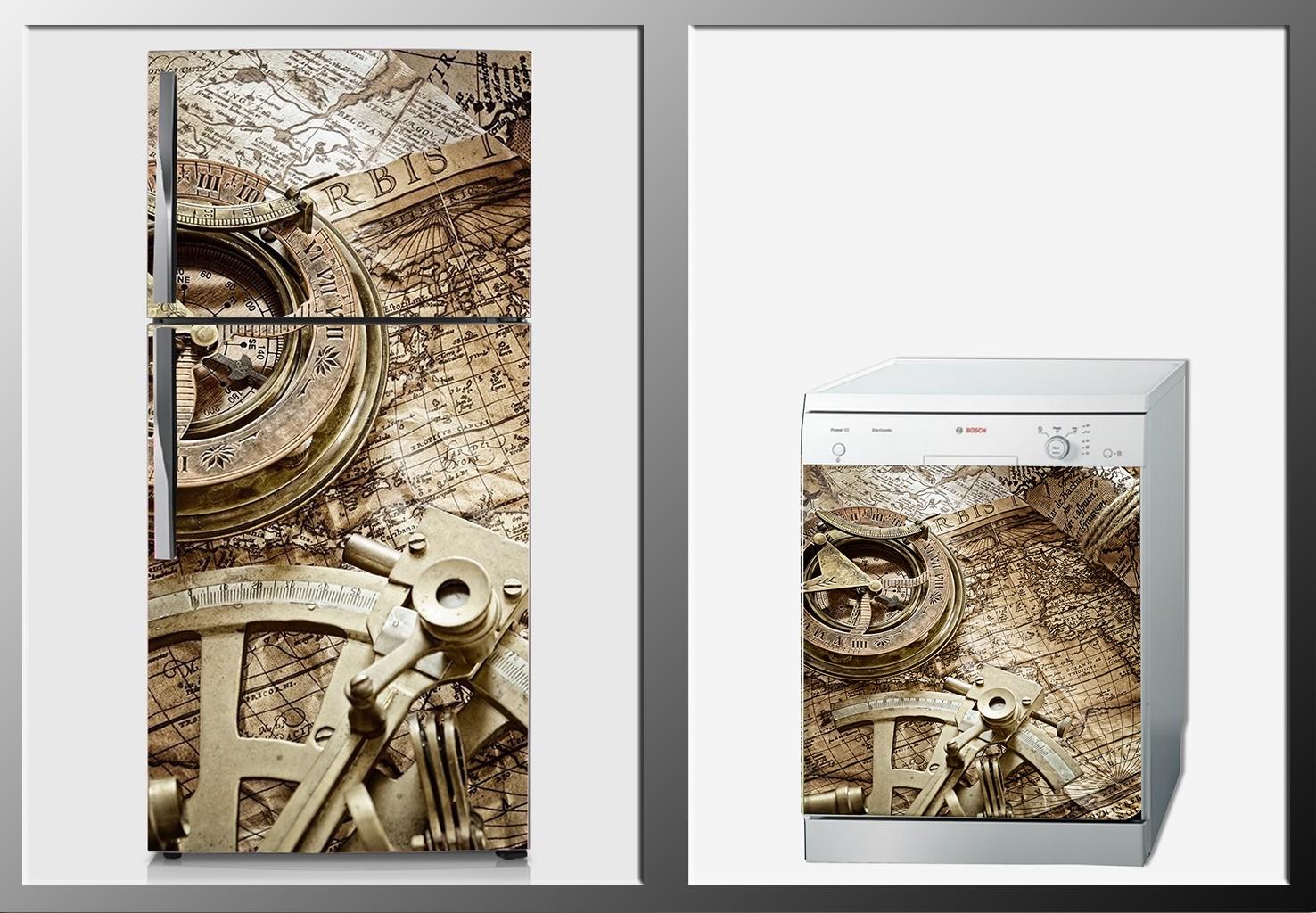 ArtWall Beyaz Eşya Harita Sticker