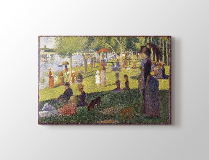 Georges Seurat - A Sunday Afternoon on the Island of La Grande Jatte Tablo